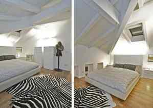 Stylish White Bedroom Design With Designer Carpet - Sophisticated Modern Penthouse Design