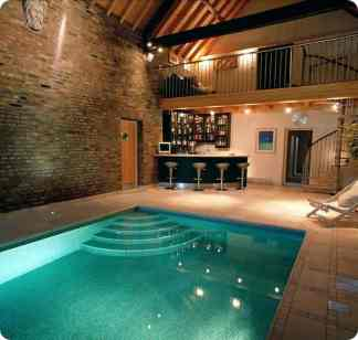 Pool with Attached Bar - Indoor Swimming Pool