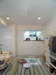Converting Basement - White Basement Design