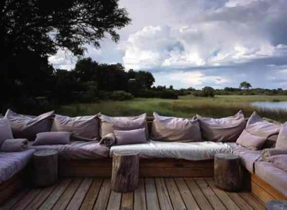 Seating at Vumbura Plains Camp by Silvio Rech and Lesley Carstens