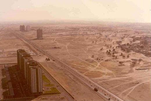 Dubai in 1990 prior to the craziness
