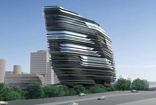 new School of Design on the campus of the Hong Kong Polytechnic University by zaha hadid