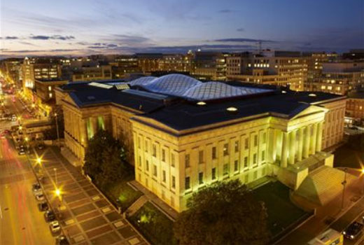 The Robert and Arlene Kogod Courtyard at the Smithsonian Institution