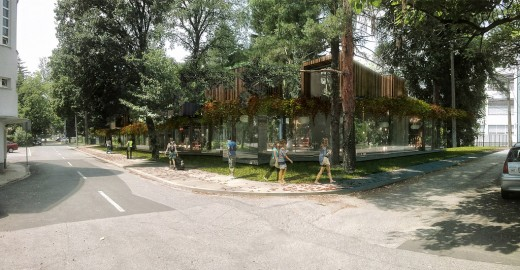 Green Pavilion Restaurant, Zagreb, Croatia / by 3LHD
