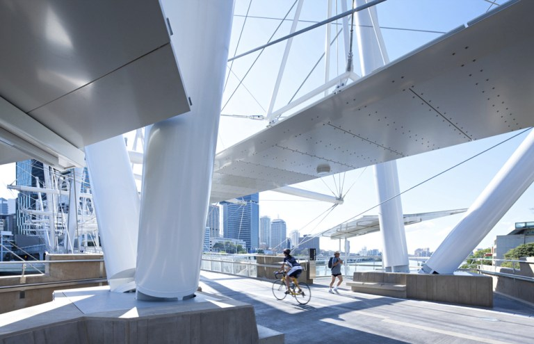 Kurilpa Bridge, Australia, designed by Cox Architecture
