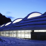 Speedskating Stadium Inzell, Germany, designed by Behnisch Architekten