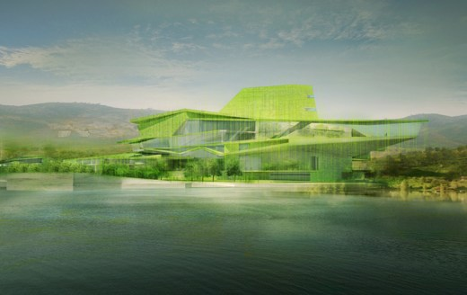­Busan Camellian Opera House / by Matteo Cainer Architects