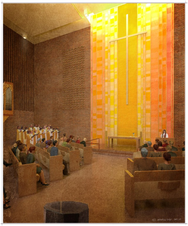 Redevelopment of Gethsemane Lutheran Church in Seattle by Jim Olson, of Olson Kundig Architects