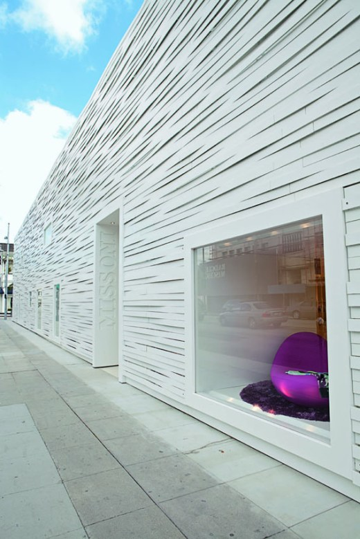 Woven metal facade for Missoni store in Los Angeles