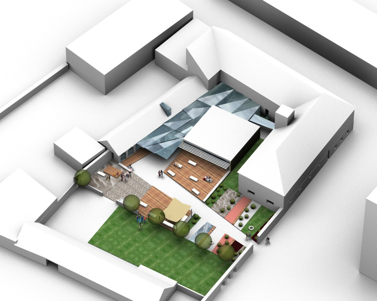 Pfarrhof Tulln - Rendering Dächer