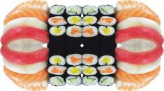 Architekt Gutmann - Design - Sushi-Tapete für Mr. Lee