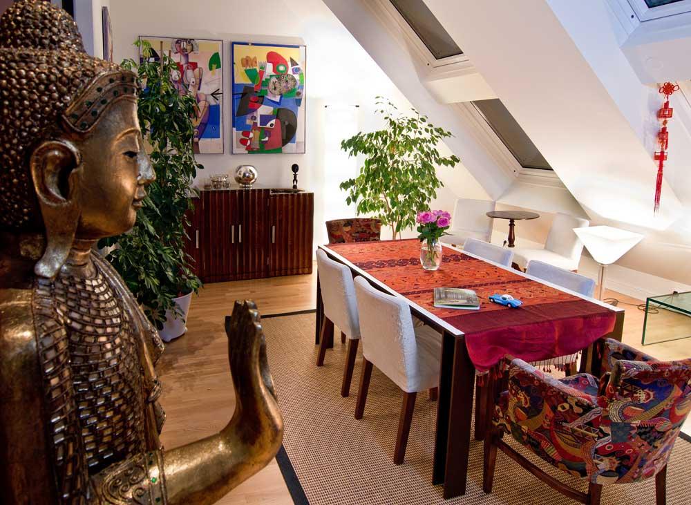 Architekt Daniel Gutmann - Dachgeschoss Führichgasse - Wohnzimmer