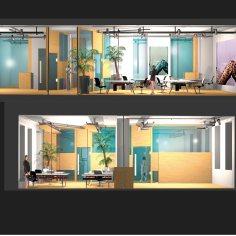 Shared Offices, Schikanedergasse, Wien - Schnitt
