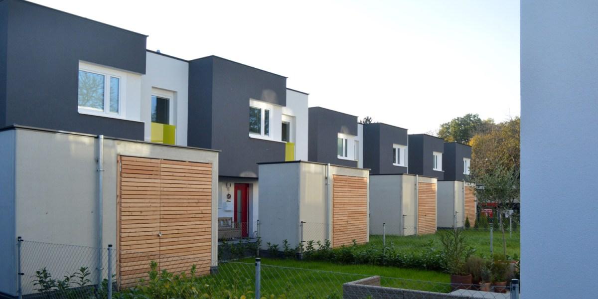 Reihenhausanlage Groß-Enzersdorf - Gärten Bauteil 1