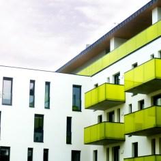 Wohnhausanlage Tulln - Bauteil 1 Hoffassade