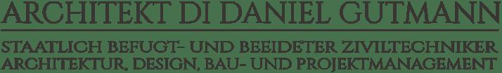 Logo - Architekt DI Daniel Gutmann - Architektur, Design, Bau- und Projektmanagement