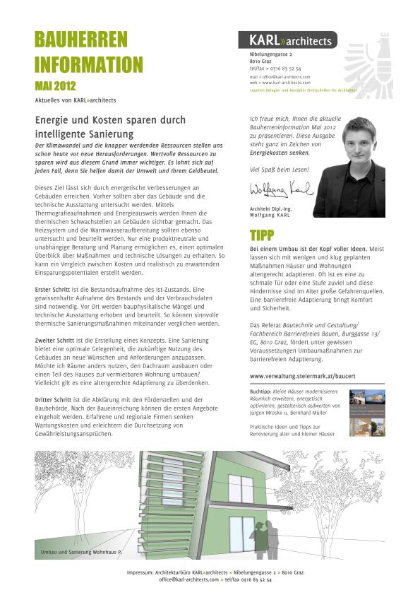 Bauherren-Information Mai 2012