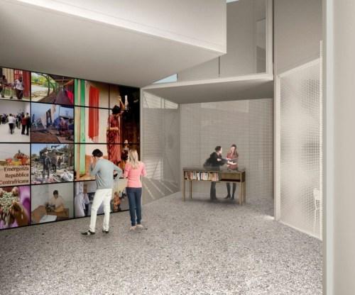 Piuarch-Edicola Caritas EXPO 2015 - Vista interno teca