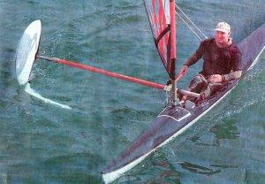 Monofoil Sailboat by John Slattebo