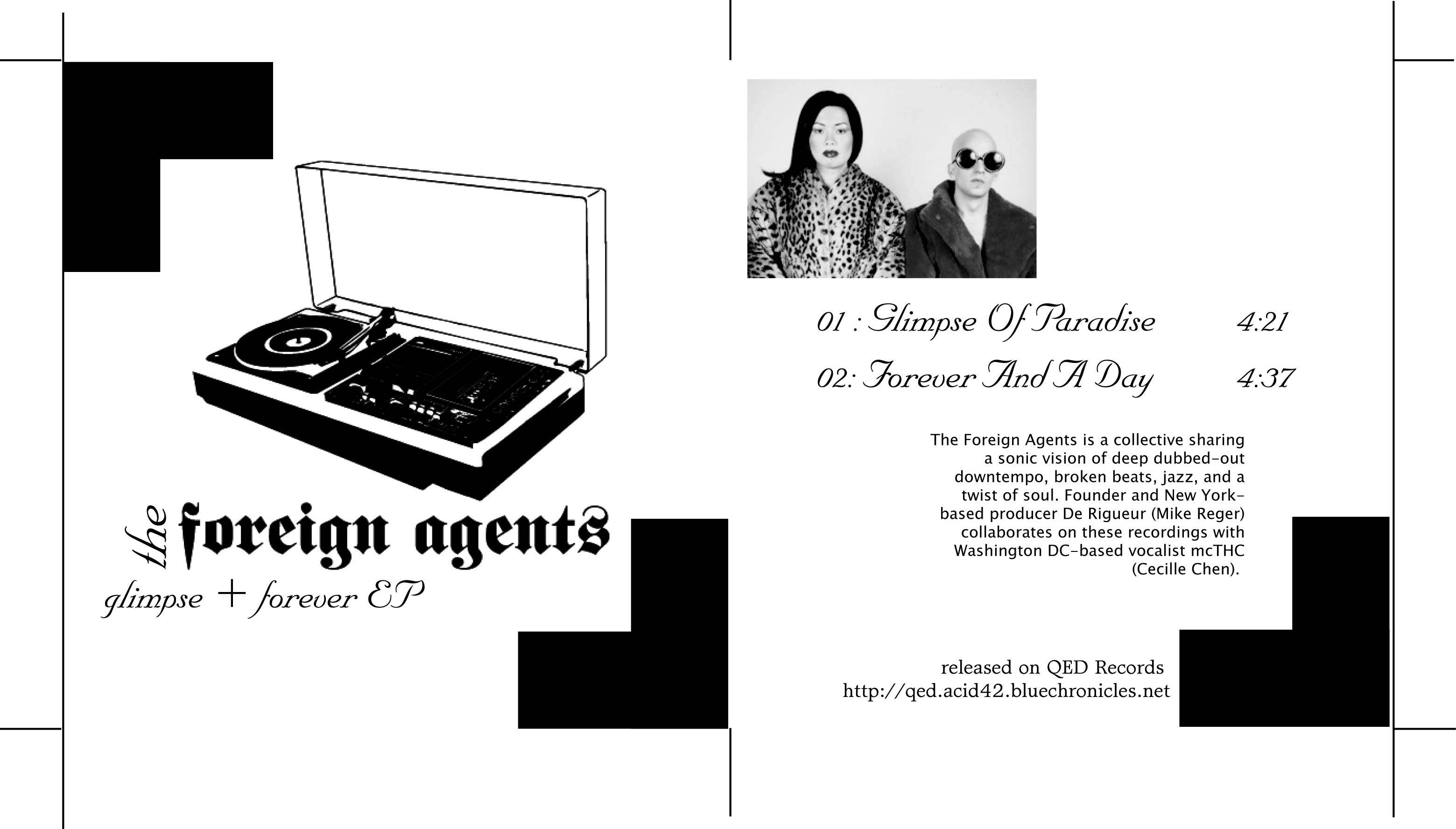 (qd-4215) The Foreign Agents - Glimpse + Forever
