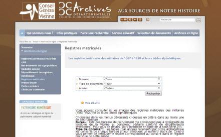 Registres matricules Vienne