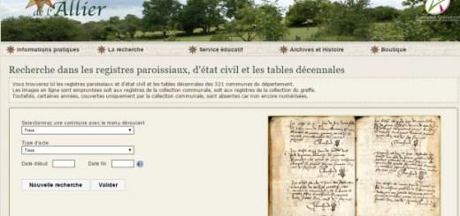 archives de l'Allier