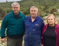 John Cogley with Mike and Eleanor the mines owners