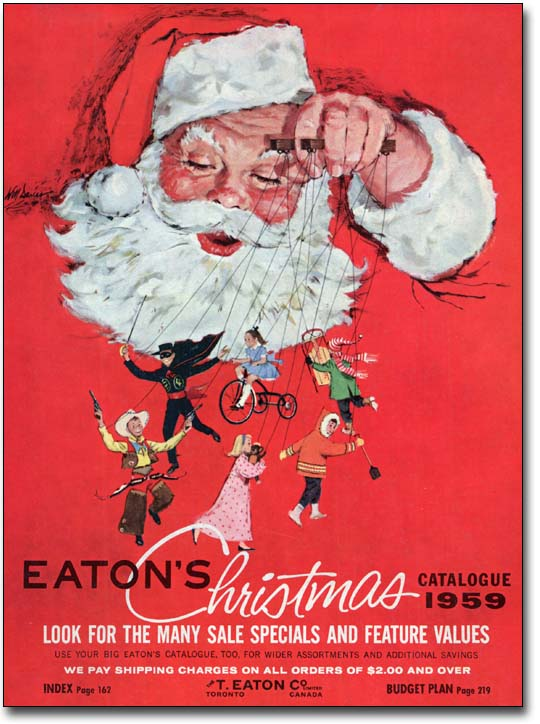 Eatons Catalogue Covers Through The Years 1959