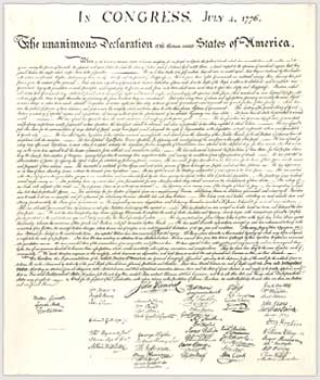 Declaration of Independence (NARA image)