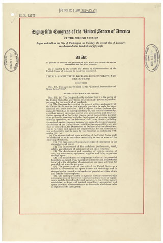 National Aeronautics and Space Act