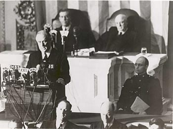 Roosevelt delivers Day of Infamy speech