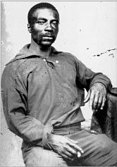 Black seaman in fatigue dress