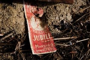 Vintage Bottle Label Wreckage