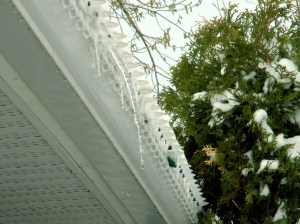 Icicles in April