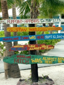 Rum Point Hurricane Sign