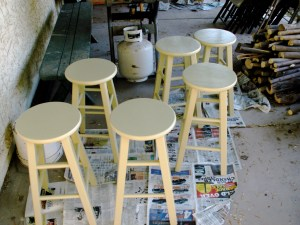 Kitchen Stools During
