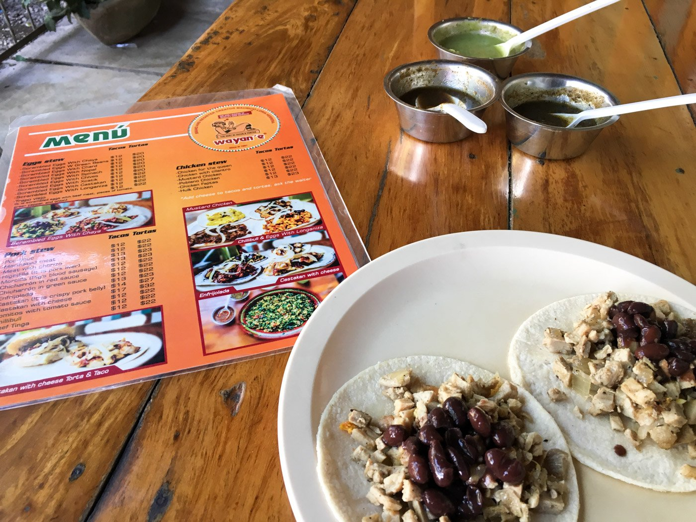 Wayan'e has some of the best tacos in Merida!