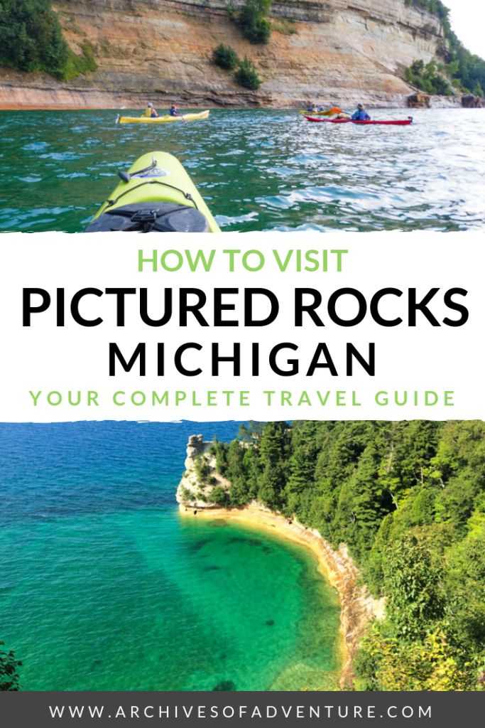 Looking for amazing things to do in Michigan, USA? It's one of the best states to visit in the United States! If you want to see one of this state's most beautiful sights, here's how to visit Pictured Rocks Michigan, in the Upper Peninsula. #Michigan #PureMichigan #PicturedRocks #USTravel #USATravel #MichiganTravel