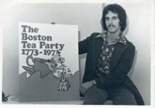 Boston Tea Party poster contest participant Credit: Boston 200 records, Collection # 0279.001, Photographs, Boston City Archives, Boston