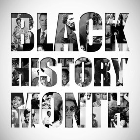 Poster publicizing Black History Month.