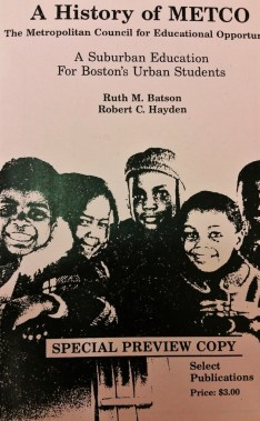 Cover of the METCO information pamphlet.