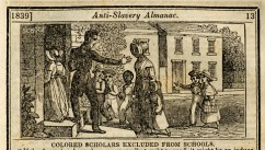 """Turned Away from School,"" Anti-Slavery Almanac, Boston, 1839."