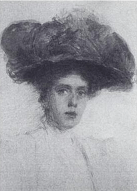 Portrait of Rose Standish Nichols by Taylor Greer, 1912. Wikimedia Commons.