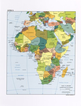 Map of Africa, 2011.