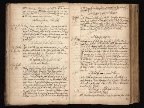 Page from Fanshawe's recipe book of treatments for illness.