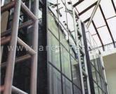 Ascensore in vetro e acciaio ferro-finestra