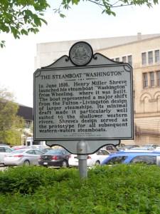 "The Steamboat ""Washington"" marker"