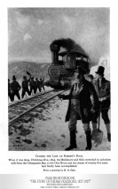 "Depiction of the Closing the Line at Rosbys Rock, Christmas Eve, 1852. From the book, ""The Story of the B&O Railroad, 1827-1927,"" Edward Hungerford."
