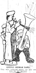 """Leedle German Band"" as depicted in the Intelligencer."