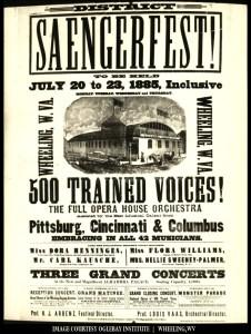 1885 Wheeling Saengerfest Poster. Courtesy Oglebay Institute.